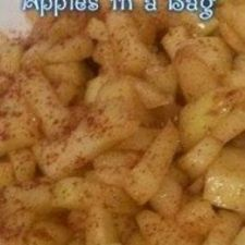 Microwave Baked Apples in a Bag