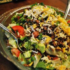 Mom's Taco Salad with Beans