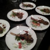 Pistachio crusted Lamb Lollipops