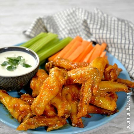 Spicy Air Fryer Honey-Lime Buffalo Wings