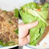 Spicy Beef & Rice Lettuce Wrap