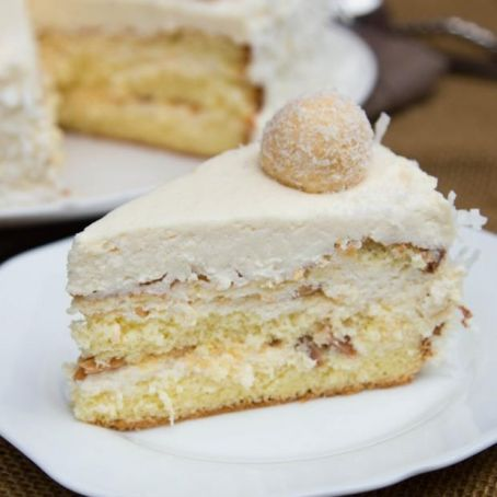 White Chocolate Raffaello Cake