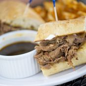 French Dip Sandwiches with Horseradish Sauce