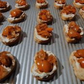 Bruschetta and Goat Cheese Crostini