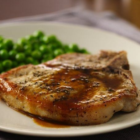 Apple Cider Sauce and Pork Loin Chops Recipe - (4.6/5)