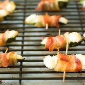 Bacon Wrapped Jalapeno Poppers (Not fried)