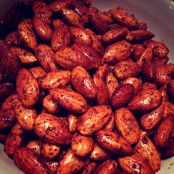 Spicy Bourbon Smoked Paprika Almonds