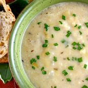 Austrian Potato Soup with chives