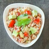 Avocado Cucumber Quinoa Salad