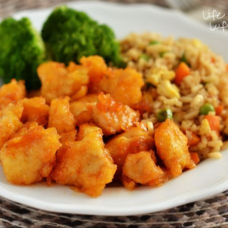 Bakes Sweet and Sour Chicken and Chicken Fried Rice