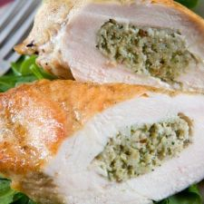 Swiss Stuffed Chicken Breast