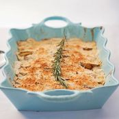 Scalloped Potatoes with Chives and Gruyere