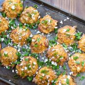 Buffalo Blue Cheese Potato Bites