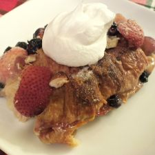 White Chocolate Berry Bread Pudding