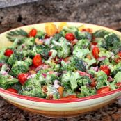 No Mayo Broccoli Salad