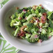 Cheesy Bacon Broccoli Salad with Sweet Dressing