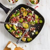 Brussels Sprouts Salad with Prosciutto