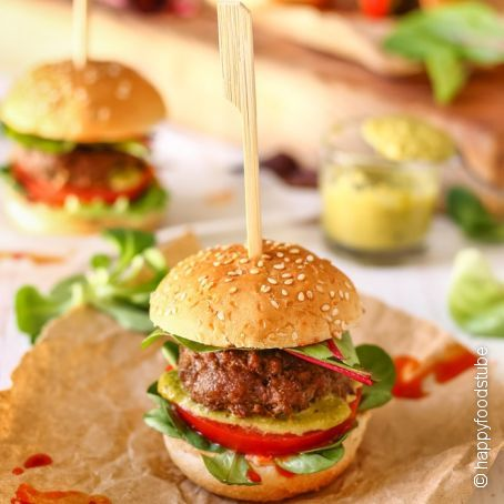 Mini Pesto Burger Sliders