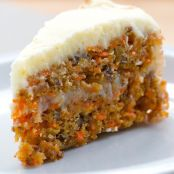 Carrot Cake with coconut and pineapple juice