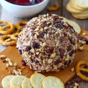 Loaded Cranberry Bacon Cheese Ball