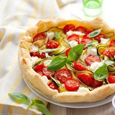 healthy cherry tomato tart