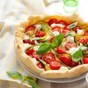 healthy cherry tomato tart