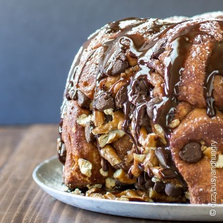 Chocolate Pretzel Monkey Bread