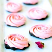 Chocolate Dipped Strawberry Meringue Roses