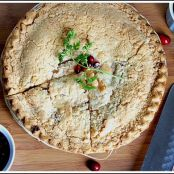Apple Pie with Cranberry and Pomegranate Sauce