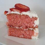 Southern Style Strawberry Coconut Cake