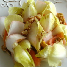 Endive Salad with walnuts and smoked salmon