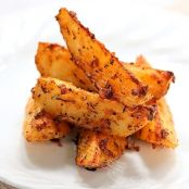 Roasted Garlic and Herb Potato Wedges