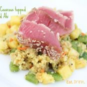 Pineapple Couscous Salad with Seared Ahi