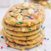 Funfetti Cheesecake Pudding Cookies