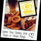 Game Day Skinny Chili Dog's n' Onion Rings