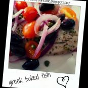 greek baked fish