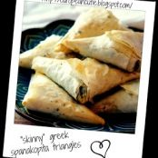 skinny greek  spanakopita triangles
