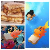 Pudge the fish's sandwich