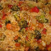 Roasted Veggie Stir Fry w/ Sesame Seeds