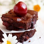 Dark Chocolate-Cherry Cabernet Brownies