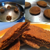 Pan Baked Ginger Snaps
