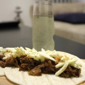 Pulled Pork Tacos with an Apple Slaw