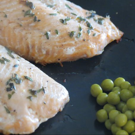 Baked Salmon with Butter and Herbs Recipe - (4.2/5)