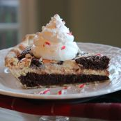 Starlight Brownie Pie with Peppermint Cream