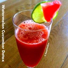 Watermelon Cucumber Detox - Energy Juice (No Juicer Required)