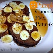 Chocolatey PUMPKIN Flax Pancakes