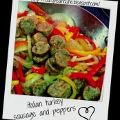 italian turkey sausage and peppers