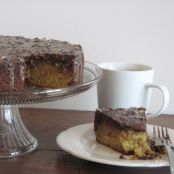 Java Chocolate Butter Cake with Hazelnut-Espresso Glaze
