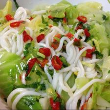 Noodle with Cabbage Salad- Khaub Poob Tso