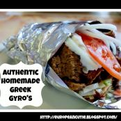 Authentic Homemade Greek Gyro's